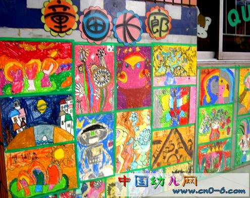 幼儿园走廊墙壁颜色 幼儿园走廊墙壁画 幼儿园走廊楼梯布置