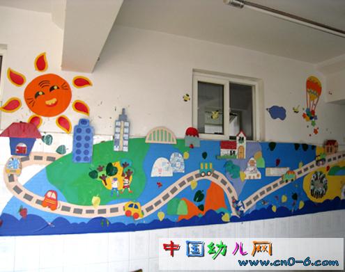 幼儿园墙面设计:家乡的火车