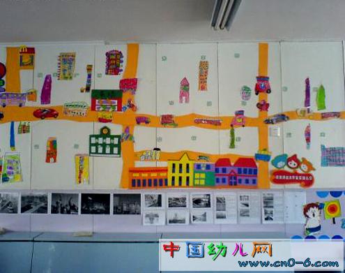 幼儿园墙面设计:我住的城市