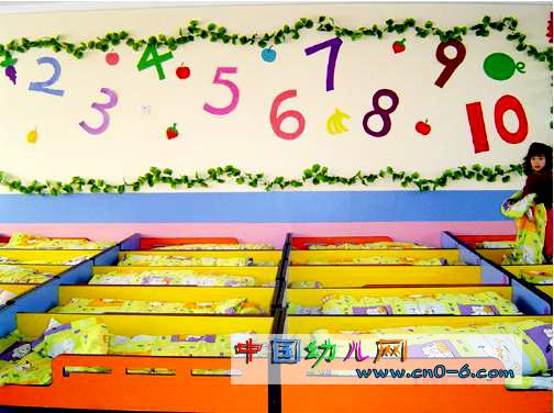 幼儿园睡室布置图片多图