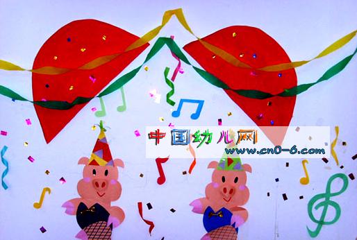 幼儿园大班墙面设计:家园树
