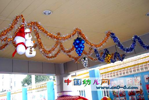 圣诞节幼儿园吊饰:雪孩子的圣诞节