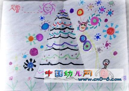 幼儿园圣诞节贺卡:我的圣诞树