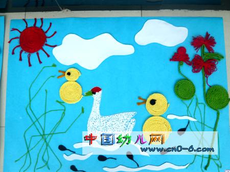 儿童学游泳绘画