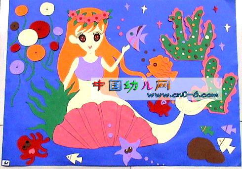 幼儿园墙面设计:美人鱼
