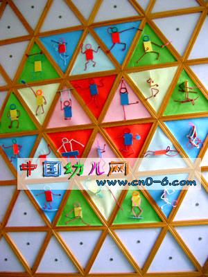幼儿园墙面设计:立体小人动画-环境布置