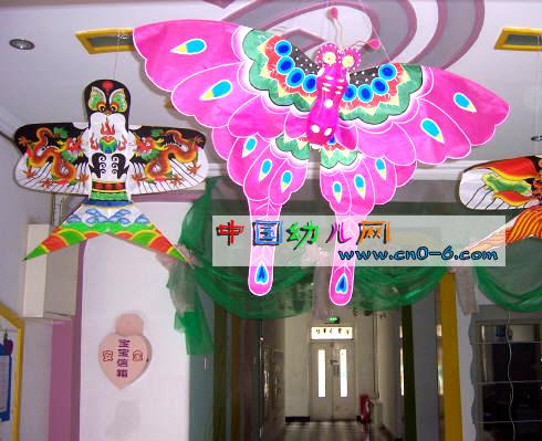 幼儿园吊饰:放风筝-环境布置