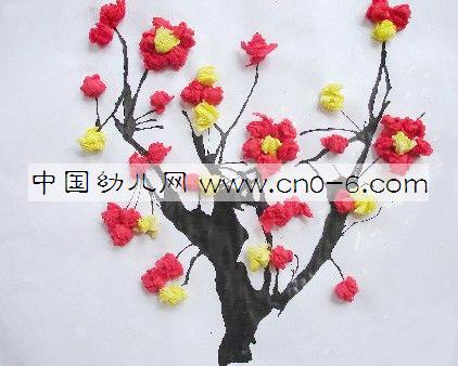 幼儿园墙面布置:梅花