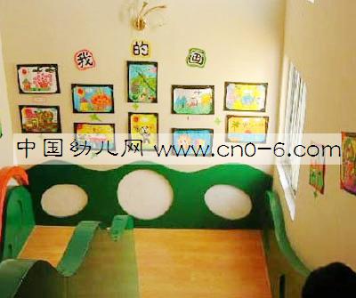 幼儿园走廊布置 童画长廊