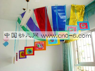 幼儿园走廊吊饰布置:亮眼看世界