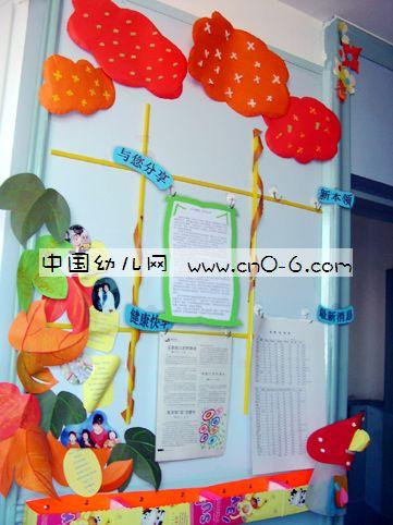 幼儿园大班家园联系栏布置1