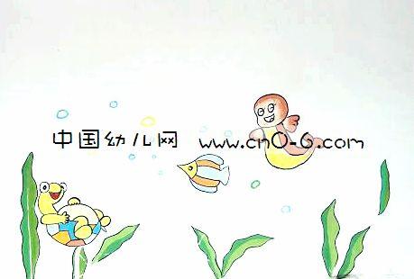 墙体彩绘素材卡通鸭子表情