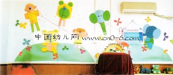 放风筝——幼儿园墙面布置