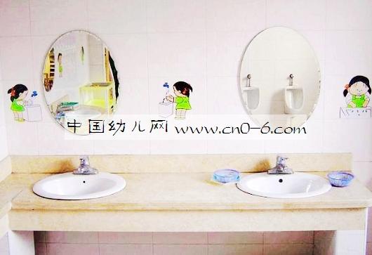 洗手的步骤——幼儿园卫生间墙面布置