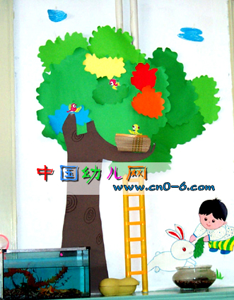 """守株""""喂兔""""(幼儿园墙面设计)"""