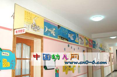 屋顶的海洋世界(幼儿园墙面设计)-环境布置