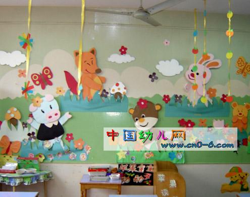 盘点与环境布置图片; 幼儿园环境布置:春天来了