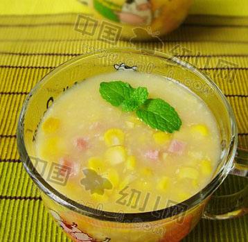 圣诞节儿童营养美食:火腿玉米浓汤(圣诞节儿童饮食)