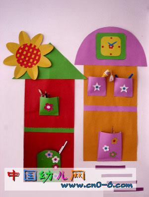 帮妈妈设计的储物栏(幼儿园手工设计)-环境布置