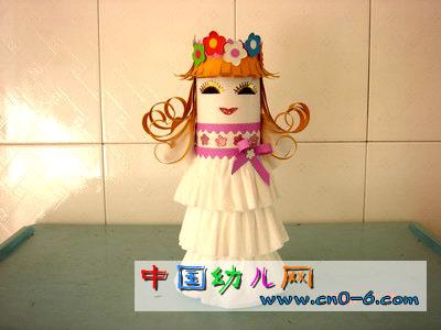 纸娃娃白雪公主(幼儿园手工设计)