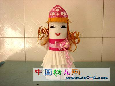纸娃娃灰姑娘(幼儿园手工设计)