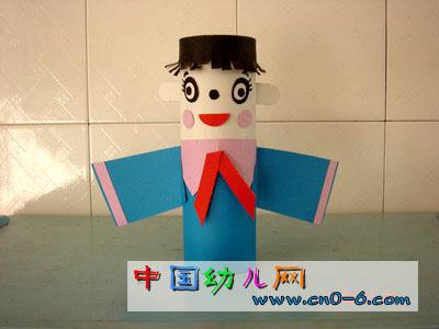 纸娃娃蓝精灵(幼儿园手工设计)