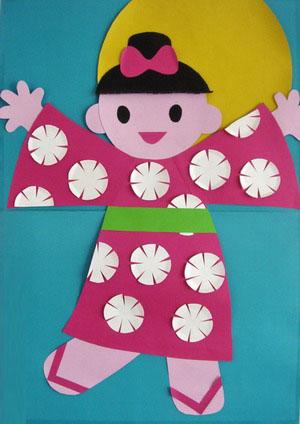 日本小宝宝贴画(幼儿园手工设计)