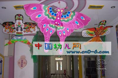 粉色大蝴蝶(幼儿园手工吊饰)