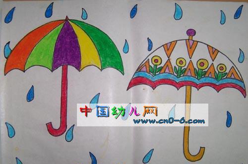 儿童 雨伞绘画