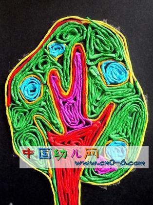 春天到了,用绿色的毛线能做出漂亮的手工作品