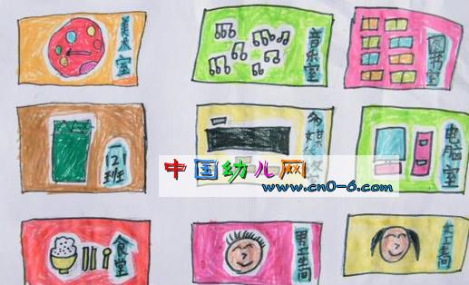 幼儿园平面水彩图(幼儿园美术)-环境布置