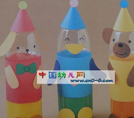三色娃娃感情好(幼儿园手工布置)