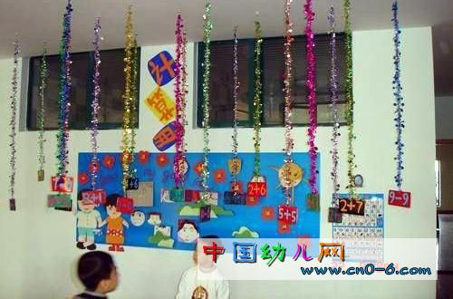 彩虹链吊饰(幼儿园环境布置)