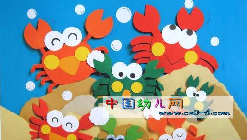 环境布置 >红螃蟹绿螃蟹(幼儿园墙面设计)  幼儿园环境布置 , 吊饰