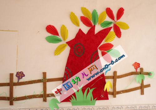 劳动节七彩树开花(幼儿园环境创设)