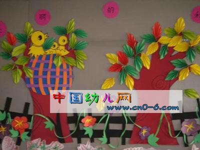 小黄鸟叽叽喳喳唱声乐(幼儿园环境布置吊饰)