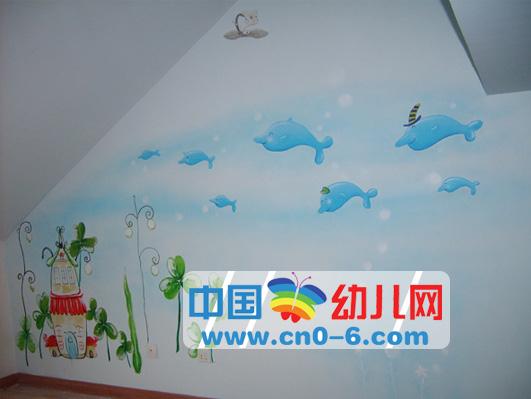 海豚游玩(幼儿园环境创设)