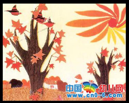 枫叶就红了(秋季幼儿园环境布置)