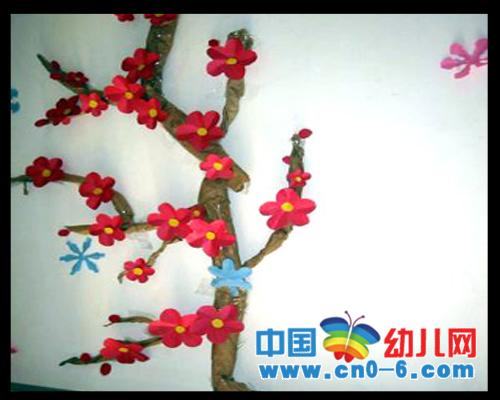 冬季的花朵(冬季幼儿园环境布置)