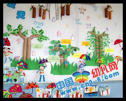 春天的小雨伞(幼儿园春天环境布置)