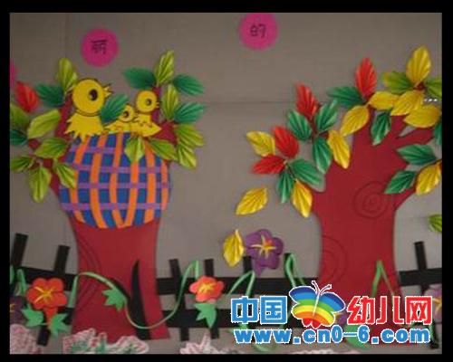 墙面环境布置; 幼儿园布置图片,幼儿园布置参考,幼儿园环境布置; 秋天