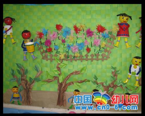 欢庆五一劳动节(春季幼儿园环境布置)