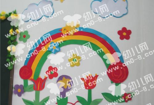 彩虹玫瑰(幼儿园环境布置)