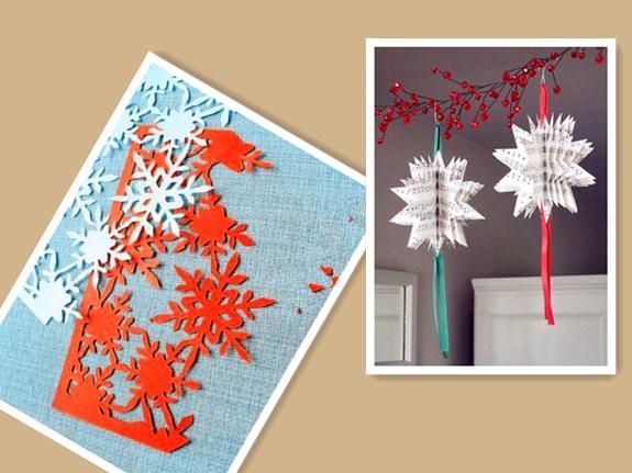 圣诞雪花剪纸